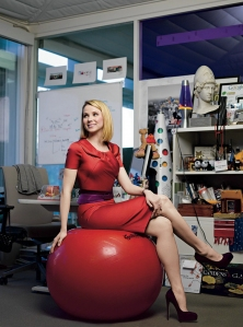 Yahoo CEO Marissa Mayer<br>(photo by Brigitte Lacombe)